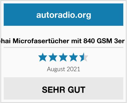 Trehai Microfasertücher mit 840 GSM 3er Set Test