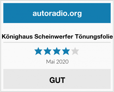 Könighaus Scheinwerfer Tönungsfolie Test