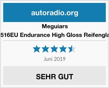 Meguiars G7516EU Endurance High Gloss Reifenglanz Test