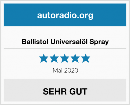 Ballistol Universalöl Spray Test