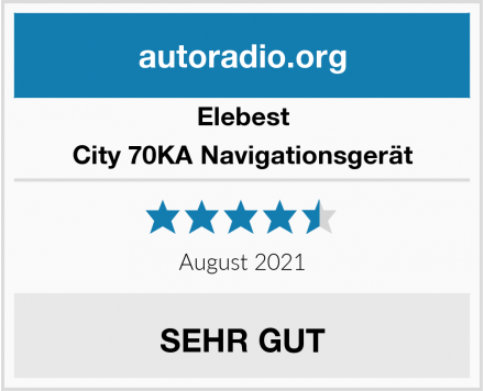 Elebest City 70KA Navigationsgerät Test
