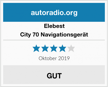 Elebest City 70 Navigationsgerät Test