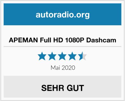 APEMAN Full HD 1080P Dashcam Test