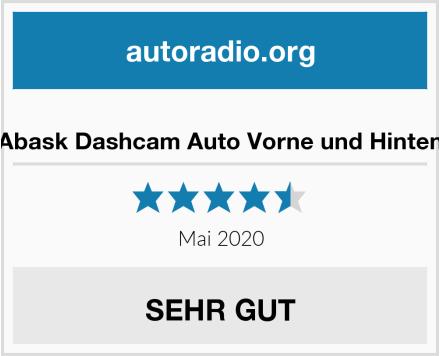Abask Dashcam Auto Vorne und Hinten Test