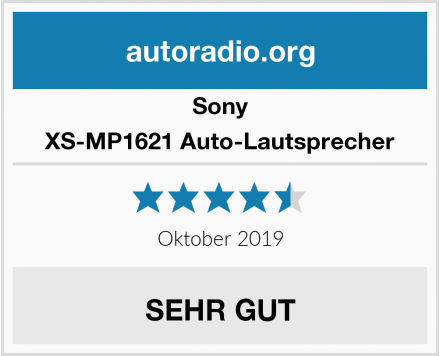 Sony XS-MP1621 Auto-Lautsprecher Test