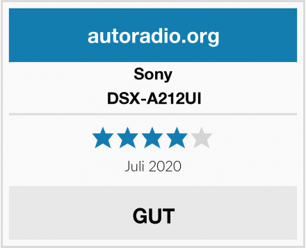 Sony DSX-A212UI Test