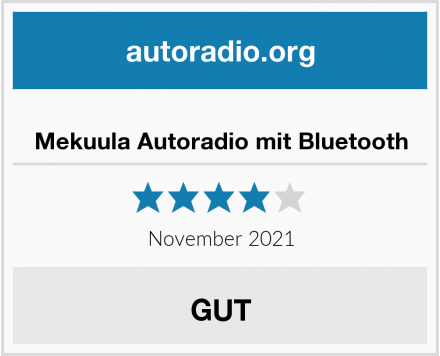 Mekuula Autoradio mit Bluetooth Test