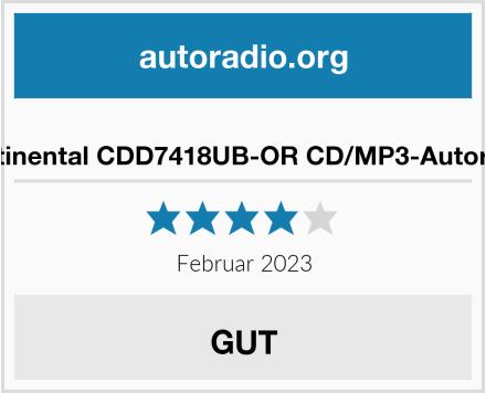 Continental CDD7418UB-OR CD/MP3-Autoradio Test