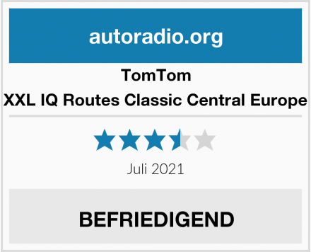 TomTom XXL IQ Routes Classic Central Europe Test