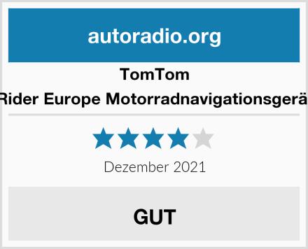TomTom Rider Europe Motorradnavigationsgerät Test
