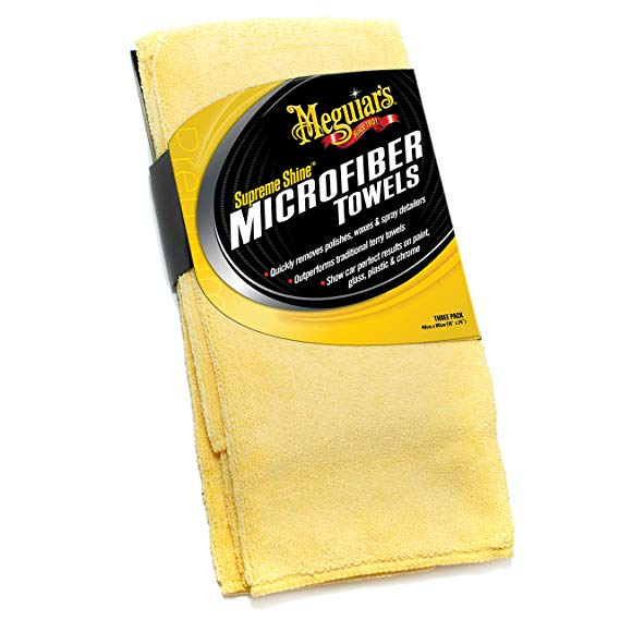 Meguiars X2020EU Supreme Shine Mikrofasertuch 3er Pack