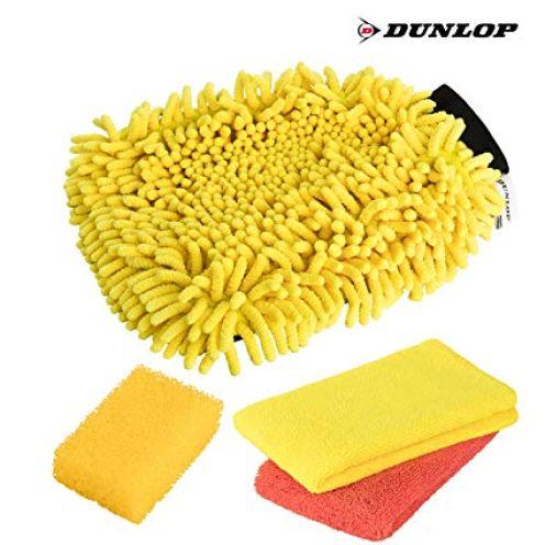 Dunlop 4-teiliges Premium Auto & Motorrad Waschset