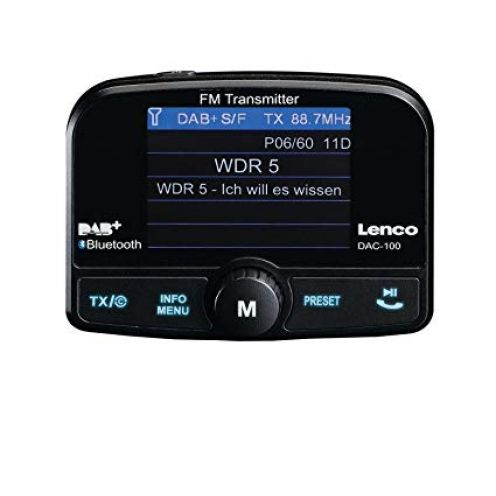 Lenco Auto DAB+ Digitalradio Adapter DAC-100 FM-Transmitter