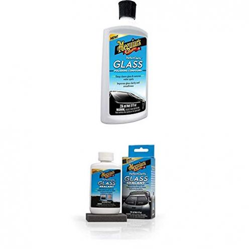 Meguiars G8408EU Meguiars Perfect Clarity Glass Polishing Compound + G8504EU Perfect Clarity Glass Sealant Glas- Scheibenversiegelung