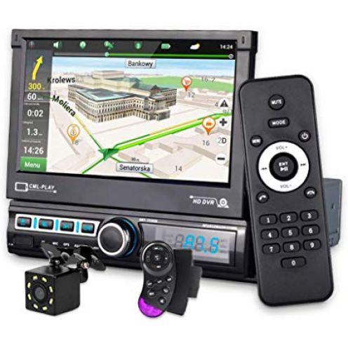 micarba Single-DIN Autoradio mit GPS-Navigation