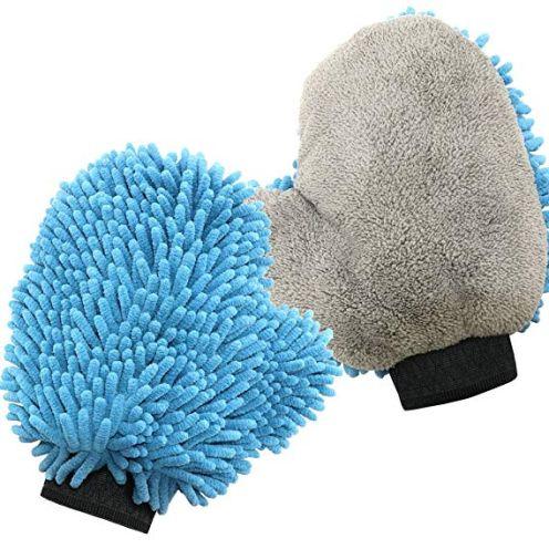 SEG Direct Ultra Weicher Chenille & Korallen Samt Waschhandschuh