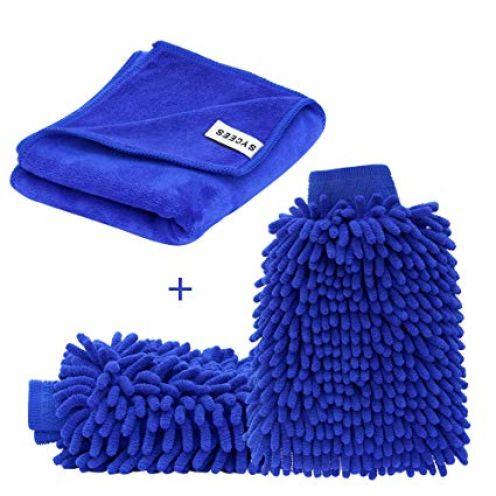 SYCEES Mikrofaser Autowaschhandschuh