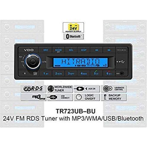 VDO 24 V Radio TR723UB-BU