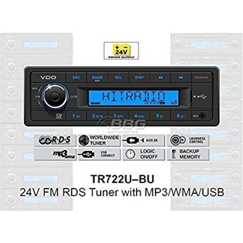 VDO 24 Volt LKW Radio TR722U-BU